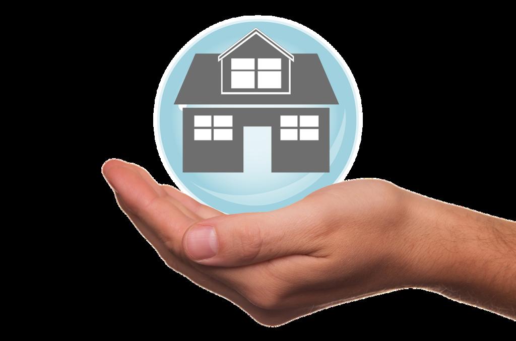 mano sosteniendo una casa-tipos de hipotecas